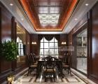 赛华中式客厅顶墙精装效果图