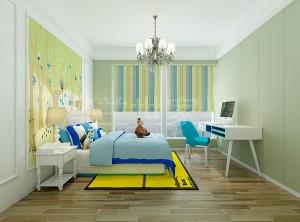 现代风卧室装修案例 澳兰世家墙面卧室装修案例