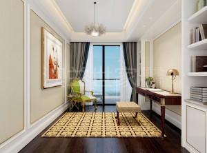 书房客厅墙面装修案例 澳兰世家顶墙装修风格图