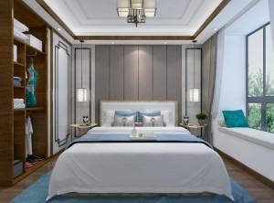 现代卧室墙面装修实例 艾莱特墙面装修效果图