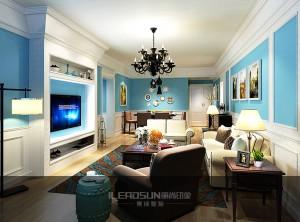 丽尚印象竹木纤维墙面客厅装修效果图