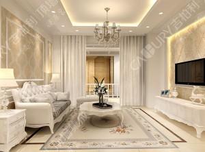 吉柏利顶墙集成美式客厅装修案例,美式客厅墙面装修