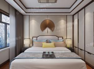 中式风卧室护墙板装修效果图,吉柏利中式卧室装修案例