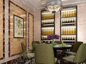 吉柏利欧式大餐厅装修效果图,欧式餐厅墙面装修案例
