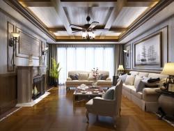 艾莱特墙面现代美式客厅系列