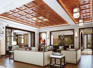 索菲尼洛顶墙客厅最新装修实例,客厅吊顶装修效果图