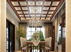 欧式餐厅顶墙装修效果图,索菲尼洛餐厅装修实例