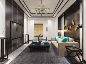 新中式风格全屋整装效果图,澳兰世家新中式装修