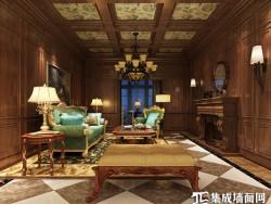 星雅图顶墙集成欧式风格-美式客厅