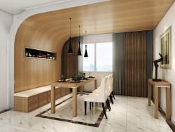 星雅图顶墙集成欧式风格-现代餐厅