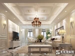 派格森顶墙一体客厅欧式装修效果图 (17)