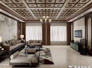 爱尔菲顶墙集成客厅各种风格装修效果图