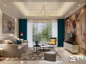 三一阳光集成顶墙客厅现代风格装修效果图 (4)