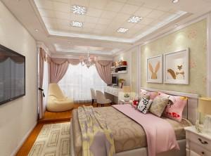 世纪豪门墙面女孩卧室装修效果图赏析