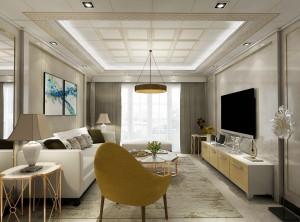 新中式客厅墙面装修效果图,世纪豪门新中式装修案例