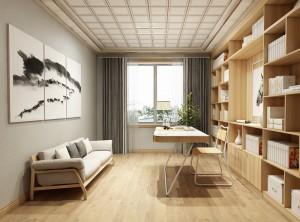 世纪豪门新中式书房卧室系列装修实景图