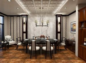 欧式餐厅装修效果图,世纪豪门欧式餐厅装修案例