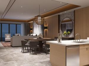 中式餐厅装修效果图,招财鱼餐厅装修案例