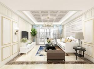 欧式客厅全屋装修效果图,艾格木客厅装修案例