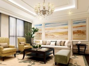 杜森集成墙面客厅装修效果图,欧式客厅装修图