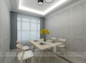 吉象铝墙面简欧系列餐厅装修效果图