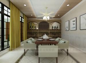 吉象顶墙集成美式餐厅装修效果图 美式餐厅装修图