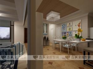 欧式风格餐厅吊顶装修效果图,吉象餐厅装修案例