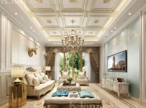 凯兰顶墙集成客厅系列装修效果图