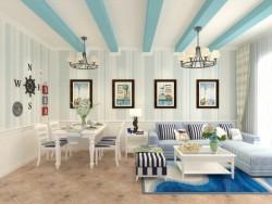 美而雅地中海客厅系列墙面