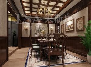 来斯奥顶墙餐厅中式和美式装修效果图 (2)