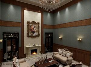 最新别墅装修中欧混搭风格效果图