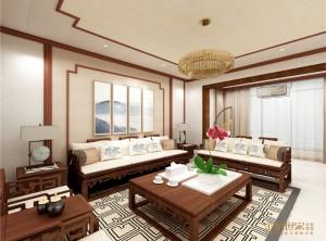 金粉世家全屋整装新中式装修风格改造3室2厅166平