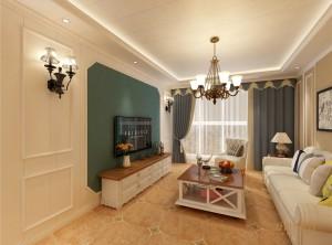 简美风格集成墙板装修风格3室2厅85平