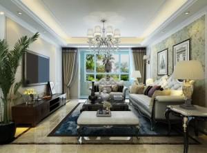 148㎡三居室简欧风格,恰到好处的华丽装修