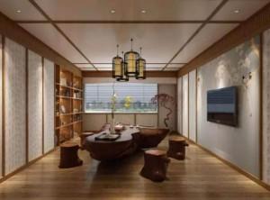 中式风家具与中式风格墙面完美结合,万宝中式装修图