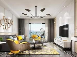 缔尚大师集成墙面现代简约型客厅装修效果图