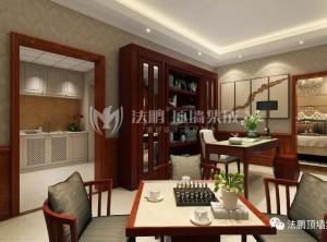 法鹏顶墙集成美式风格客厅装修效果图