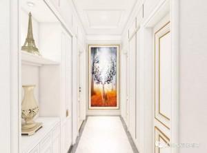 艾格木精装墙顶128㎡欧式三居很有品味装修图
