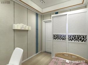 艾格木精装墙顶120㎡现代简约三居室装修图