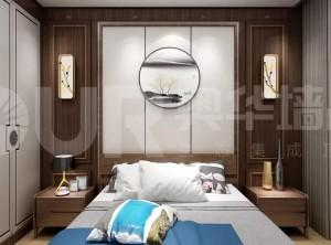 奥华集成家居卧室装修效果图,新中式卧室装修图片
