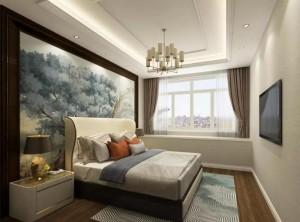 万宝集成墙面新中式风格卧室、书房装修图