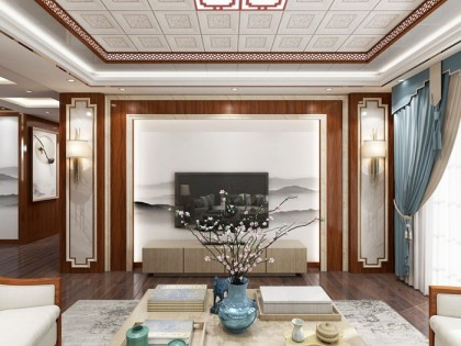 世紀豪門新中式客厅