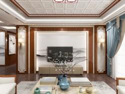 世纪豪门新中式客厅