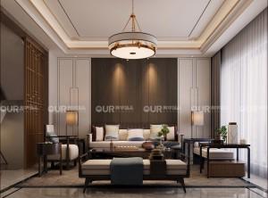 卧室现代中式风装修图片,奥华墙品中式风格效果图