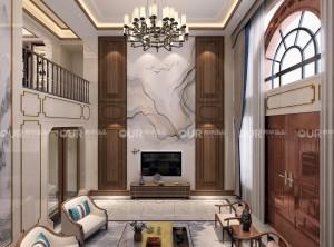 奥华墙品新中式客厅装修效果图