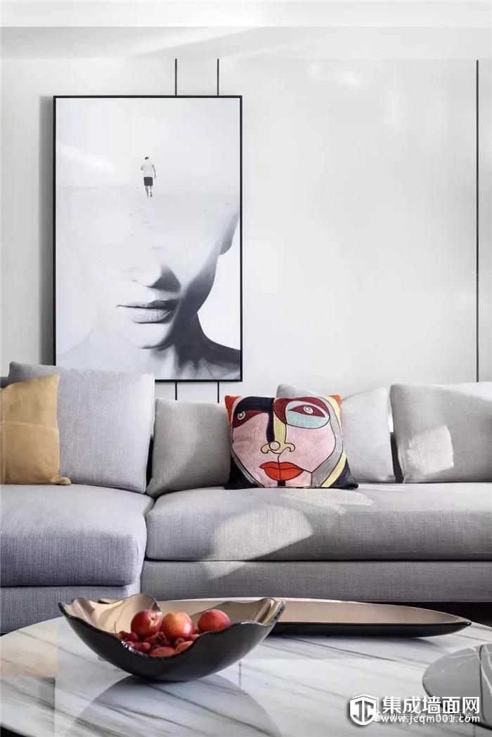 顶美家高端集成墙板,为你营造轻奢简约的静谧空间