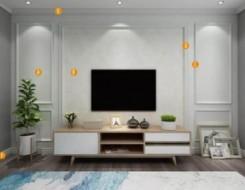 楚楚顶墙三种不同风格的客厅背景墙装修效果图