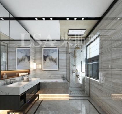 来斯奥顶墙铝晶大板系列卫生间装修效果图