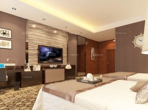 沃居集成墙板卧室新中式风格装修效果图