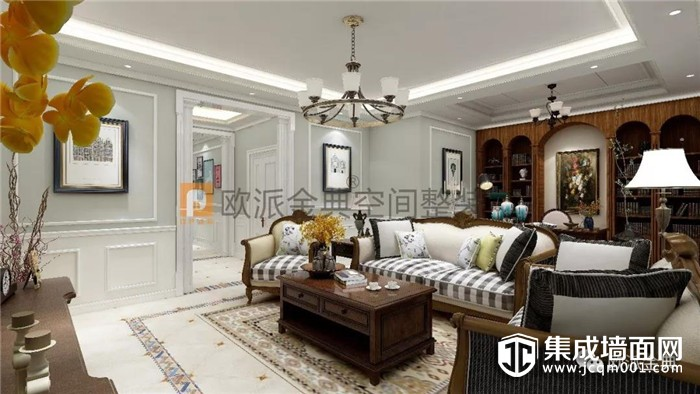 欧派金典背景墙打破单调,缔造舒适丰富的家居环境!